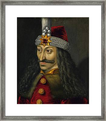 Vlad The Impaler Portrait  Framed Print by War Is Hell Store