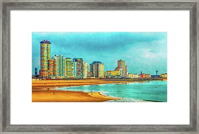 Vlissingen Skyline Framed Print by Wim Lanclus