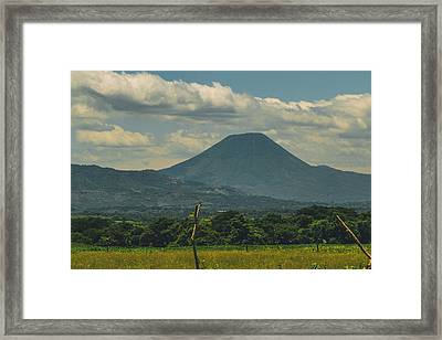 Volcan Chingo 1 Framed Print by Totto Ponce