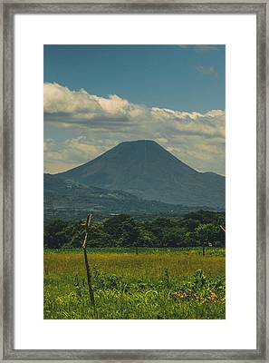 Volcan Chingo Framed Print by Totto Ponce