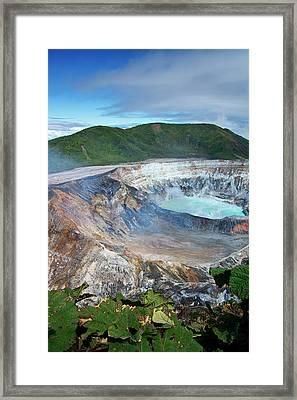 Volcan Poas Framed Print by Kryssia Campos