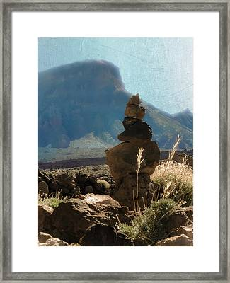 Volcanic Desert Composition Framed Print by Loriental Photography