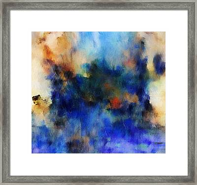 Volcanic Eruption Abstract Framed Print by Georgiana Romanovna