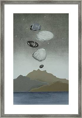 Volcanic Pebbles II Framed Print by Nancy Hilgert