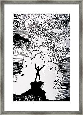 Volcanic Rage Framed Print by Hawaiian Legacy Archive - Printscapes