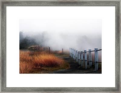 Volcano Fence Framed Print by Ty Helbach