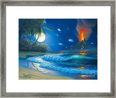 Volcano Moon Framed Print by Al Hogue