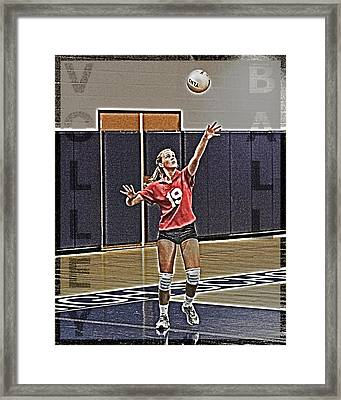 Volleyball Girl Framed Print by Kelley King