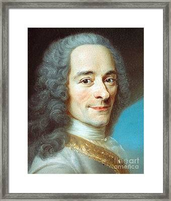 Voltaire Framed Print by Pg Reproductions