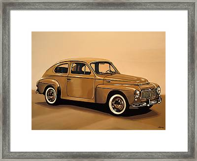 Volvo Pv 544 1958 Painting Framed Print by Paul Meijering