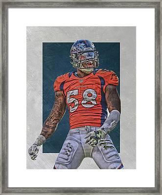Von Miller Denver Broncos Art 1 Framed Print by Joe Hamilton