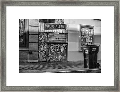 Voodoo Alley Framed Print by CJ Schmit