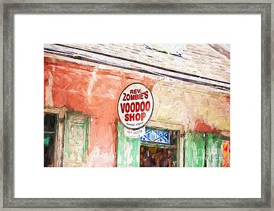 Voodoo Shop Framed Print by Scott Pellegrin