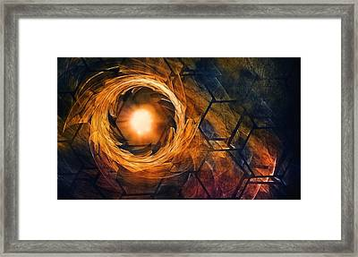 Vortex Of Fire Framed Print by Scott Norris