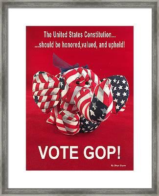 Vote Gop Framed Print by Floyd Snyder
