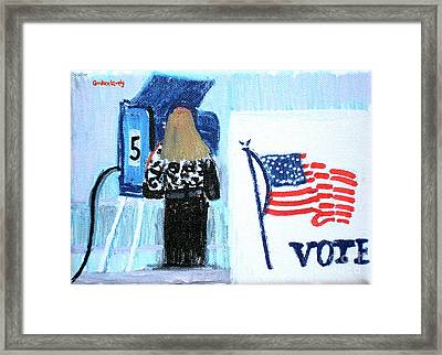 Voting Booth 2008 Framed Print by Candace Lovely