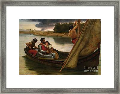 Voyage Of King Arthur And Morgan Framed Print by MotionAge Designs