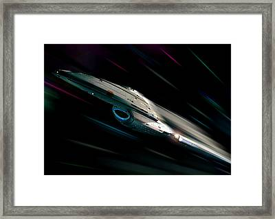 Voyager At Warp Framed Print by Joseph Soiza