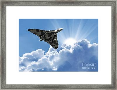 Vulcan To The Skies Framed Print by Stephen Smith