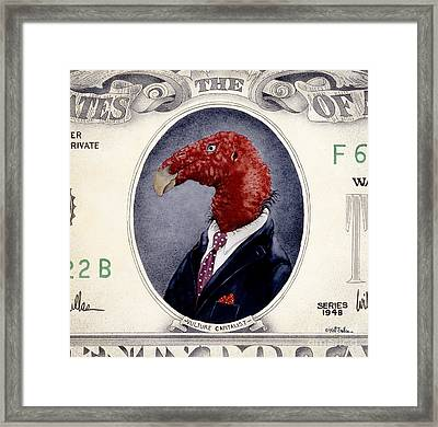 Vulture Capitalist... Framed Print by Will Bullas