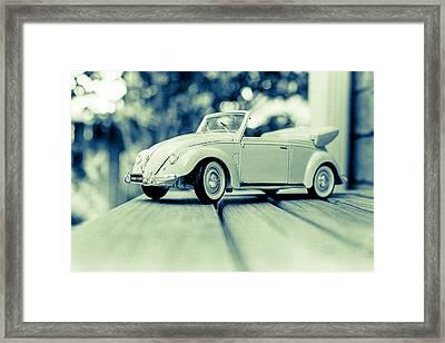 Vw Beetle Convertible Framed Print by Jon Woodhams