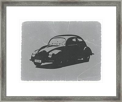 Vw Beetle Framed Print by Naxart Studio