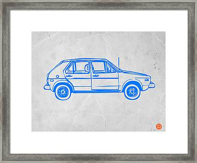 Vw Golf Framed Print by Naxart Studio