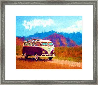 Vw Van Classic Framed Print by Marilyn Sholin
