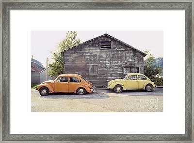Vw's In Skagway Alaska Framed Print by Bruce Stanfield