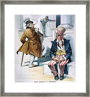 W. Mckinley Cartoon, 1896 Framed Print by Granger