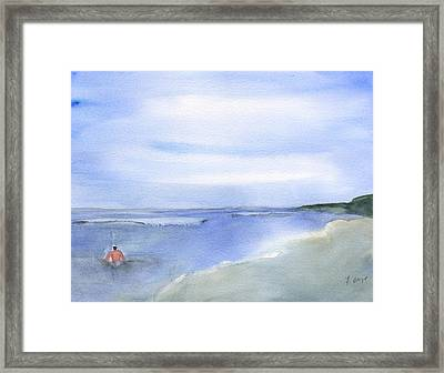 Wading In The Water Framed Print by Frank Bright