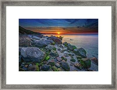 Wading River Sunset Framed Print by Rick Berk