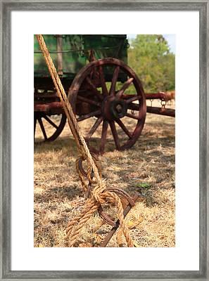 Wagon Stake Framed Print by Toni Hopper