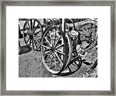 Wagon Wheel Graveyard Framed Print by Douglas Barnard