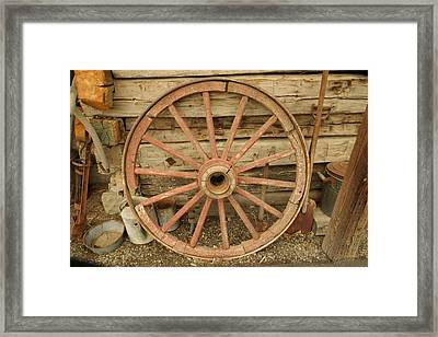 Wagon Wheel Framed Print by Jeff Swan