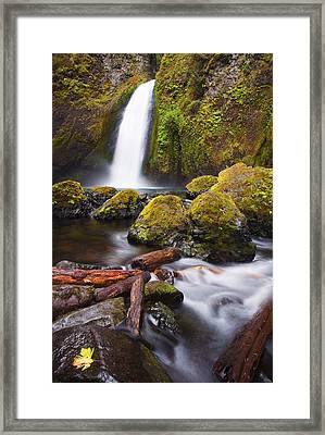 Wahclella Framed Print by Mike  Dawson