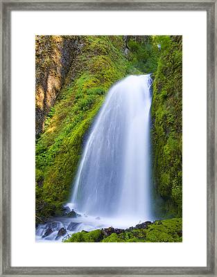 Wahkeena Framed Print by Mike  Dawson