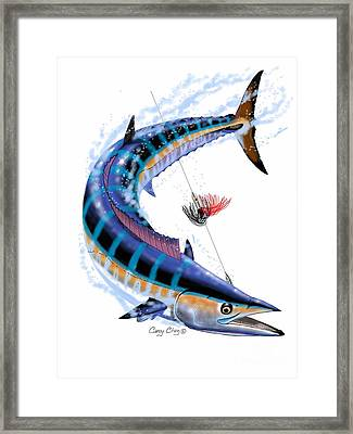 Wahoo Digital Framed Print by Carey Chen