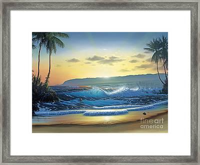 Waialua Daybreak Framed Print by Al Hogue