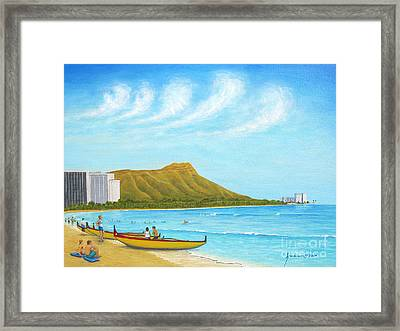 Waikiki Wonder Framed Print by Jerome Stumphauzer