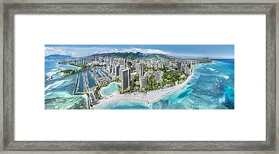 Waikiki Wonderland Framed Print by Sean Davey