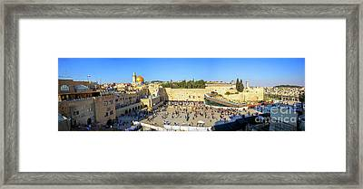 Haram Al Sharif / Temple Mount - Israel / Palestine Framed Print by Wietse Michiels