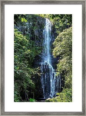 Wailua Falls Vertical Framed Print by Kelley King