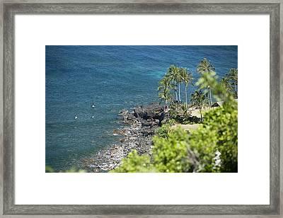 Waimea Bay Sup Framed Print by Peter French