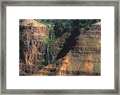 Waimea Canyon Four Framed Print by Michael Peychich