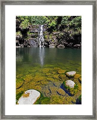 Waimea Falls Framed Print by Elizabeth Hoskinson