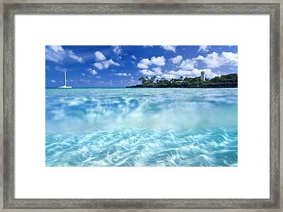 Waimea Pool Framed Print by Sean Davey