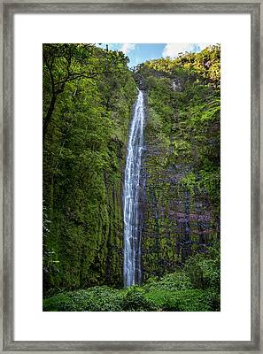 Waimoku Falls Framed Print by Kelley King