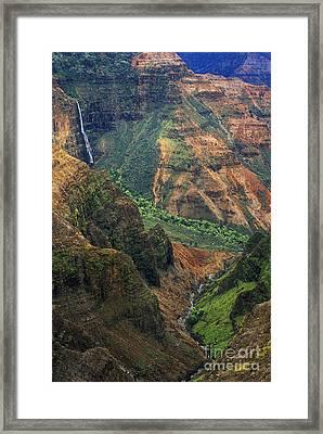 Waipoo Falls - Waimea Canyon Framed Print by Greg Vaughn - Printscapes