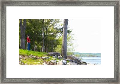 Waiting Ashore Framed Print by Jeff Kolker